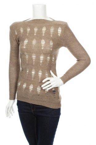 Дамски пуловер, Размер S, Цвят Бежов, Цена 8,37лв.
