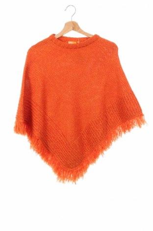 Детско пончо One By One, Размер 15-18y/ 170-176 см, Цвят Оранжев, Полиакрил, Цена 33,28лв.