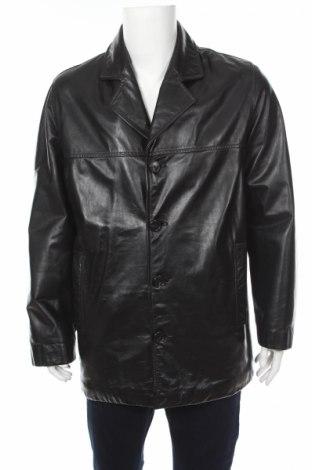 Мъжко кожено яке Esprit, Размер L, Цвят Черен, Естествена кожа, Цена 18,75лв.
