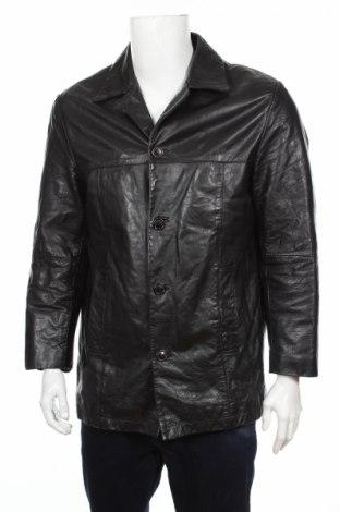 Мъжко кожено яке Revolution, Размер M, Цвят Черен, Естествена кожа, Цена 22,25лв.