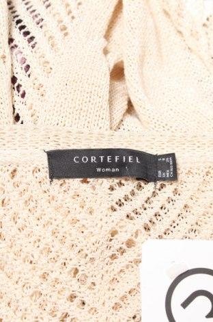 Дамска жилетка Cortefiel, Размер S, Цвят Бежов, 70% акрил, 30% полиамид, Цена 5,21лв.