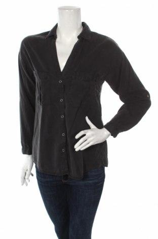 Дамска риза Zara, Размер XS, Цвят Сив, Лиосел, Цена 13,57лв.