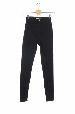 Дамски дънки Topshop, Размер XS, Цвят Черен, 68% памук, 29% полиестер, 3% еластан, Цена 34,56лв.
