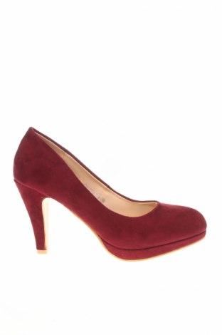 Încălțăminte de damă Manoukian, Mărime 38, Culoare Roșu, Textil, Preț 91,45 Lei