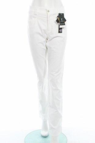 Дамски спортен панталон Golfino, Размер L, Цвят Бял, 68% памук, 29% полиамид, 3% еластан, Цена 34,40лв.