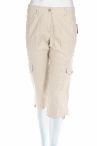 Дамски панталон New Directions, Размер S, Цвят Бежов, 55% лен, 45% вискоза, Цена 10,12лв.