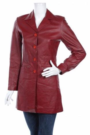 Δερμάτινο γυναικείο παλτό Art