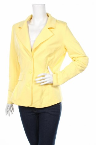 Дамско сако Rick Cardona, Размер L, Цвят Жълт, 95% памук, 5% еластан, Цена 12,60лв.