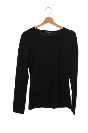 Детска блуза, Размер 15-18y/ 170-176 см, Цвят Черен, 57% памук, 38% полиестер, 5% еластан, Цена 5,52лв.