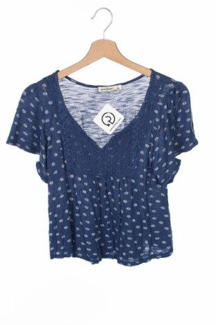 Детска блуза Abercrombie Kids, Размер 13-14y/ 164-168 см, Цвят Син, Вискоза, Цена 6,50лв.