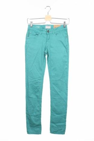 Детски дънки Review, Размер 12-13y/ 158-164 см, Цвят Зелен, 98% памук, 2% еластан, Цена 10,58лв.
