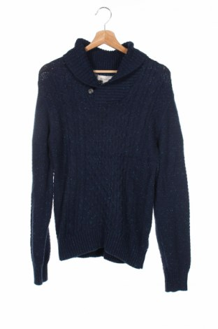 Detský sveter  H&M L.o.g.g, Veľkosť 12-13y/ 158-164 cm, Farba Modrá, 49% bavlna, 45% polyamide, 6% vlna, Cena  10,77€