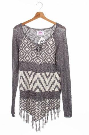 Детски пуловер Justice, Размер 15-18y/ 170-176 см, Цвят Сив, 78% памук, 22% акрил, Цена 8,25лв.