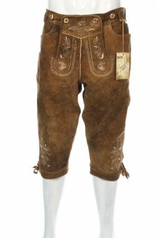 Мъжки кожен панталон Stockerpoint, Размер XL, Цвят Кафяв, Естествен велур, Цена 93,12лв.
