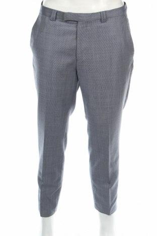 Ανδρικό παντελόνι Hugo Boss, Μέγεθος L, Χρώμα Μπλέ, Μαλλί, Τιμή 46,32€
