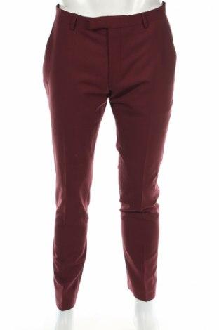 Мъжки панталон Twisted Tailor, Размер L, Цвят Червен, 53% полиестер, 43% вълна, 4% еластан, Цена 15,64лв.