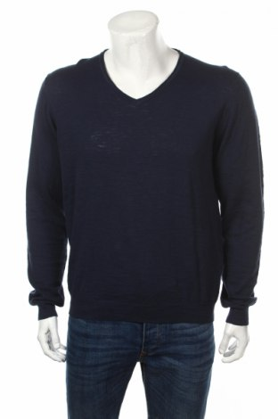Мъжки пуловер Nils Sundstrom, Размер M, Цвят Син, Памук, Цена 7,00лв.
