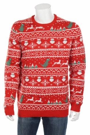 Pánsky sveter  Only & Sons, Veľkosť XL, Farba Červená, Akryl, Cena  26,80€