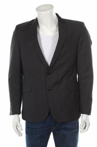Мъжко сако Strellson, Размер L, Цвят Сив, Вълна, Цена 33,50лв.