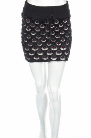 Пола Sweet Miss, Размер M, Цвят Черен, 75% полиестер, 15% еластан, 10% памук, Цена 4,92лв.