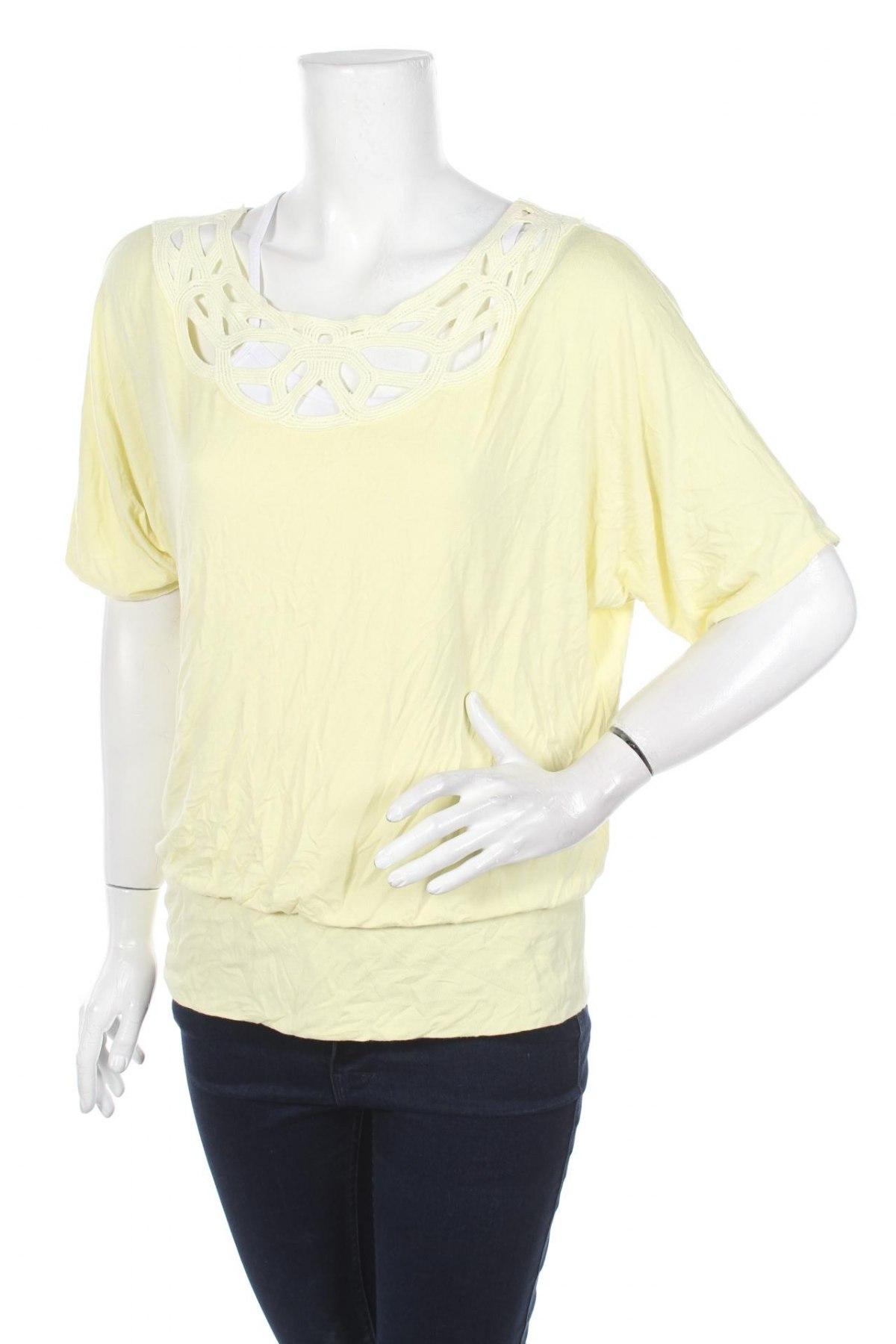 Γυναικεία μπλούζα Ab Studio, Μέγεθος S, Χρώμα Κίτρινο, Τιμή 4,11€