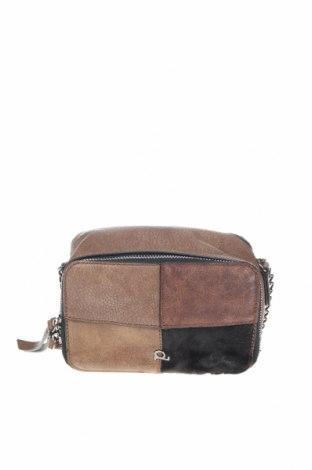 Дамска чанта, Цвят Кафяв, Еко кожа, естествен косъм, Цена 24,99лв.