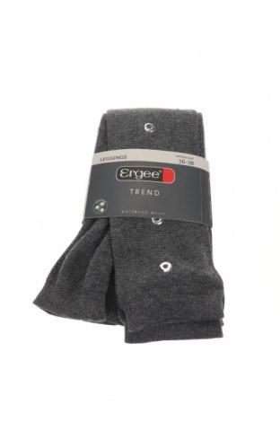 Чорапогащник - клин Ergee, Размер S, Цвят Сив, 65% памук, 33% полиамид, 2% еластан, Цена 8,14лв.