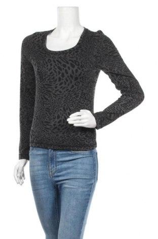 Дамска блуза Carla F., Размер M, Цвят Сив, 60% полиестер, 32% вискоза, 8% еластан, Цена 4,73лв.