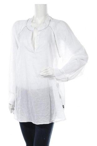Дамска блуза Didi, Размер XL, Цвят Бял, Памук, Цена 25,20лв.