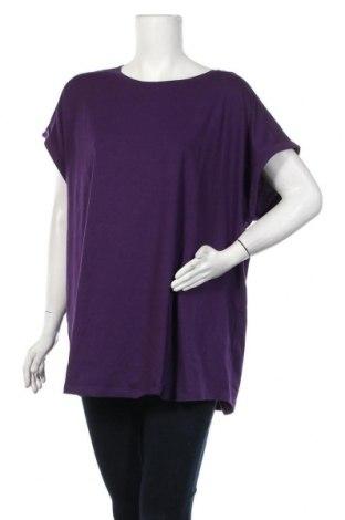 Дамска блуза Even&Odd, Размер 3XL, Цвят Лилав, 60% памук, 35% полиестер, 5% еластан, Цена 34,00лв.