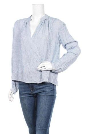 Дамска блуза H&M L.O.G.G., Размер XXS, Цвят Син, Вискоза, Цена 5,18лв.