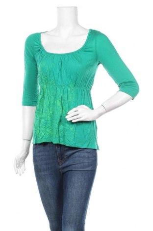 Дамска блуза St-Martins, Размер M, Цвят Зелен, 100% модал, Цена 5,36лв.