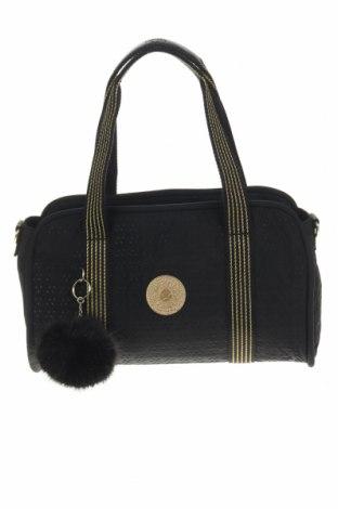 Дамска чанта Kipling, Цвят Черен, Текстил, Цена 30,45лв.