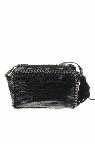 Дамска чанта Zara, Цвят Черен, Еко кожа, Цена 29,40лв.