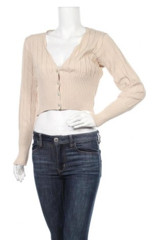 Γυναικεία ζακέτα Missguided, Μέγεθος XS, Χρώμα  Μπέζ, Ακρυλικό, Τιμή 17,78€