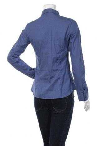 Дамска риза, Размер M, Цвят Син, 72% памук, 25% полиамид, 3% еластан, Цена 21,07лв.
