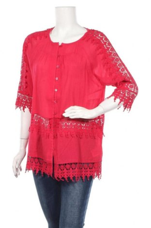 Дамска риза Alba Moda, Размер L, Цвят Червен, Памук, Цена 22,36лв.