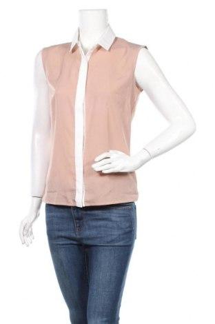 Дамска риза Awama, Размер S, Цвят Бежов, 98% памук, 2% еластан, Цена 12,60лв.