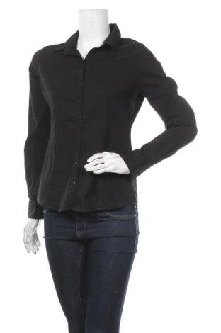 Дамска риза Cache Cache, Размер L, Цвят Черен, 72% памук, 25% полиестер, 3% еластан, Цена 25,20лв.