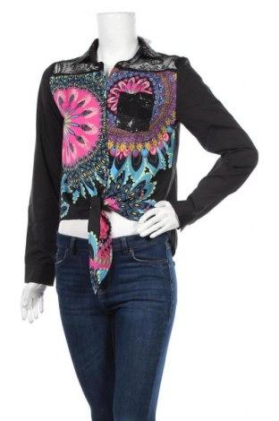Дамска риза Desigual, Размер M, Цвят Многоцветен, 95% полиестер, 5% полиамид, Цена 34,65лв.