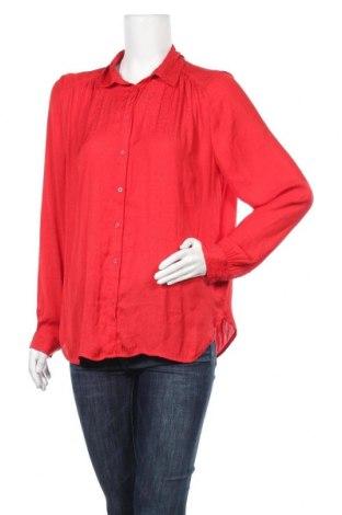 Дамска риза H&M, Размер XL, Цвят Червен, Полиестер, Цена 16,96лв.