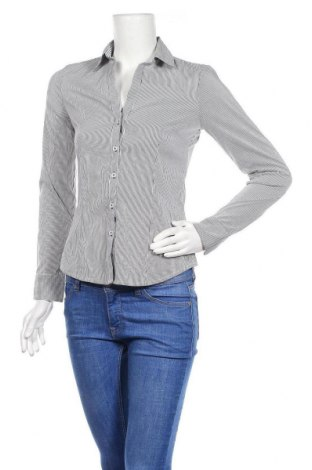 Дамска риза H&M, Размер XS, Цвят Сив, 37% полиестер, 32% памук, 27% полиестер, 4% еластан, Цена 7,15лв.