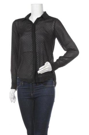 Дамска риза H&M, Размер XS, Цвят Черен, 100% полиестер, Цена 17,01лв.