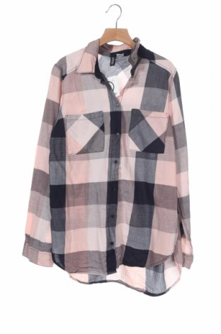 Дамска риза H&M Divided, Размер XS, Цвят Многоцветен, Памук, Цена 17,96лв.
