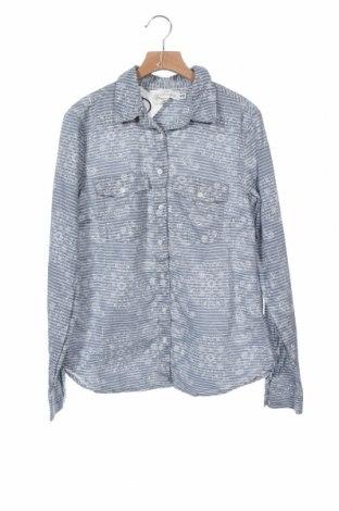 Дамска риза H&M L.O.G.G., Размер XS, Цвят Син, Памук, Цена 16,32лв.