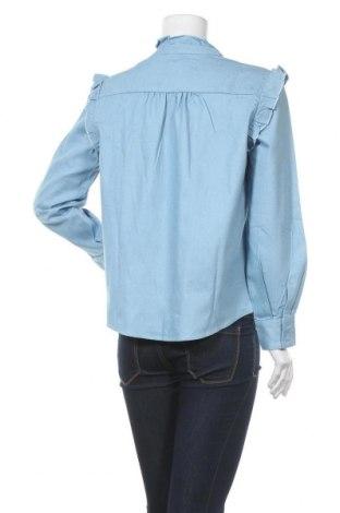 Дамска риза Irl, Размер L, Цвят Син, Памук, Цена 22,40лв.