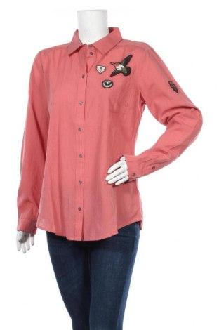 Дамска риза Kaffe, Размер L, Цвят Розов, Памук, Цена 35,60лв.