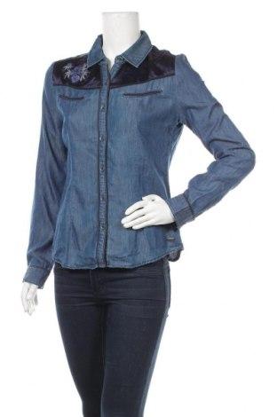 Дамска риза Kaporal, Размер L, Цвят Син, 72% памук, 28% полиестер, Цена 17,40лв.