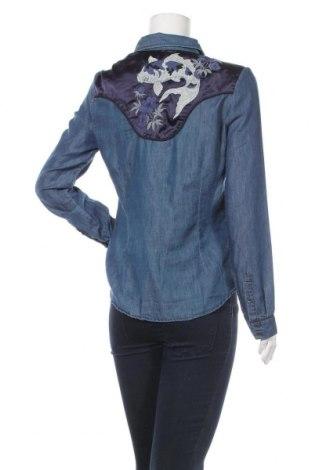 Дамска риза Kaporal, Размер L, Цвят Син, 72% памук, 28% полиестер, Цена 24,94лв.