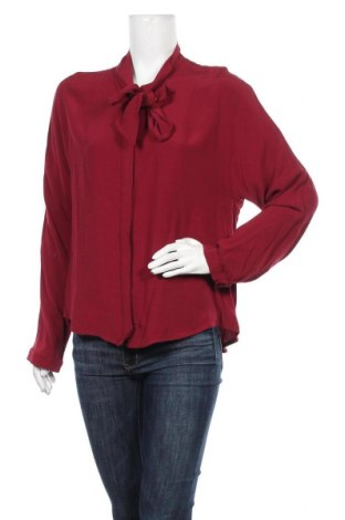 Дамска риза Lauren Vidal, Размер M, Цвят Червен, Вискоза, Цена 56,64лв.